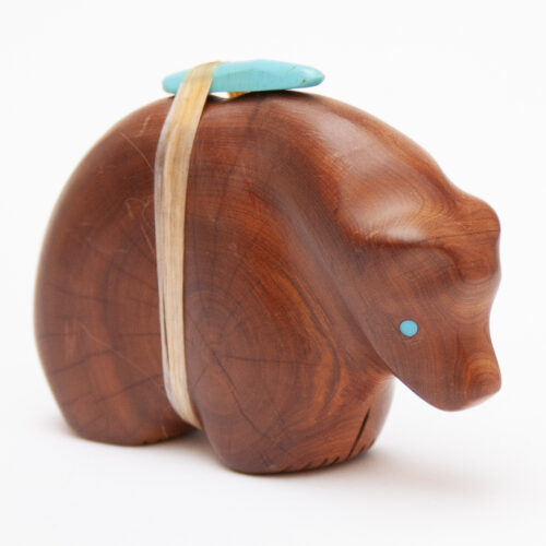 Brown Wooden Zuni Bear Fetish
