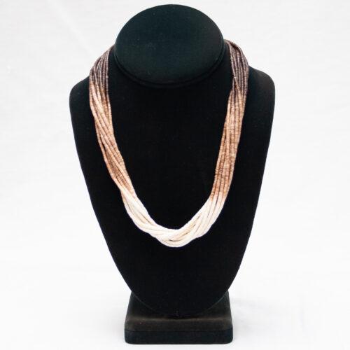 Ramona Bird 10-Strand Heishi Shell Necklace