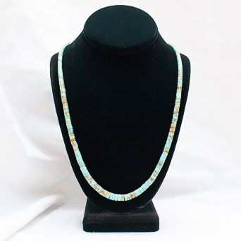 Long Beaded Turquoise Necklace