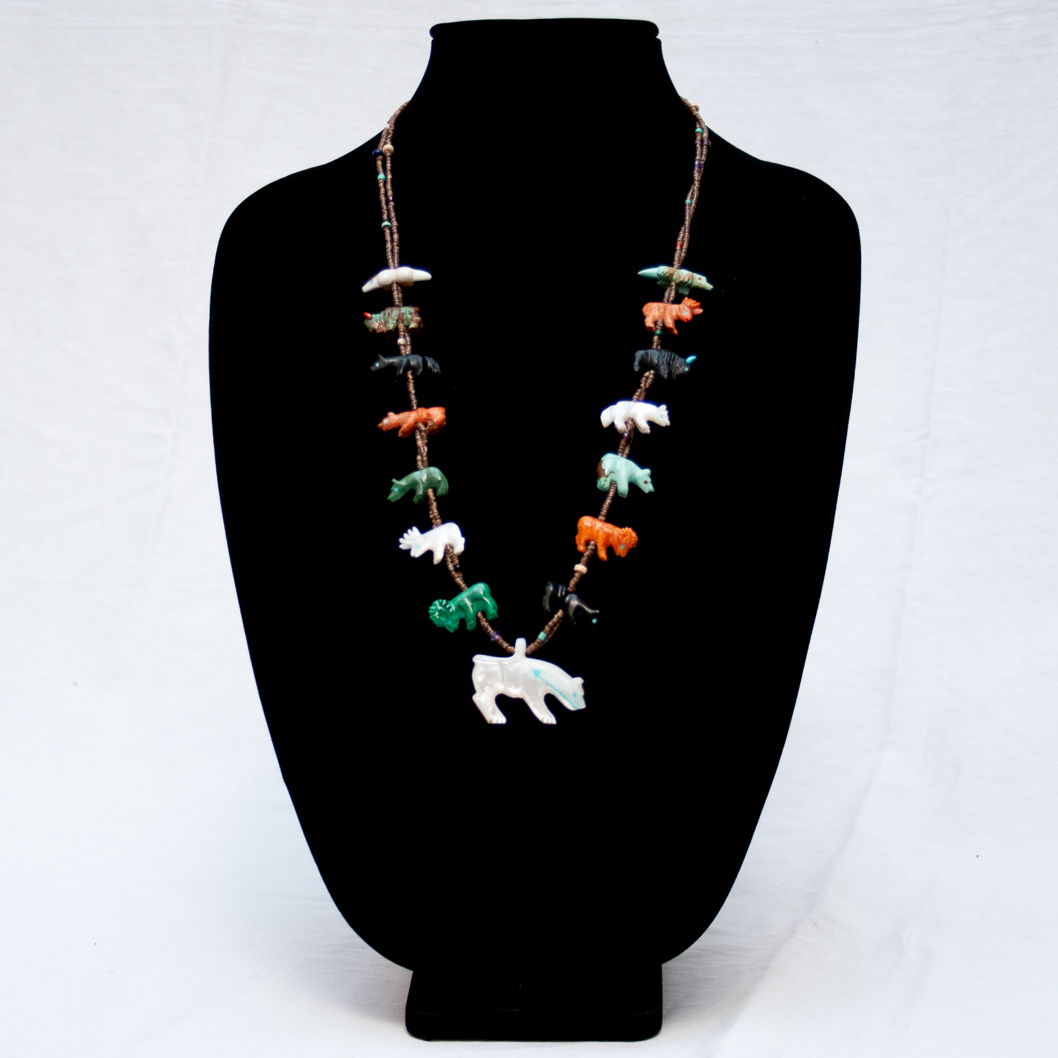 Andres Quandelacy Zuni Animal Necklace
