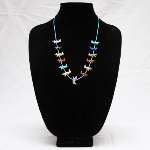 Zuni Wolf Fetish Necklace