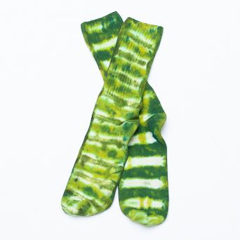 Green Tie-Dye Socks S/M