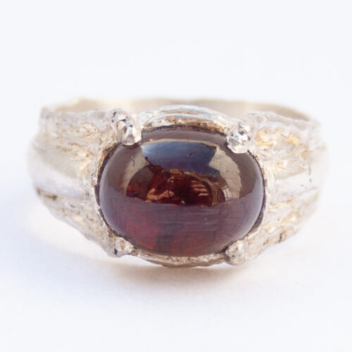 Spessartine Garnet Sterling Silver Ring