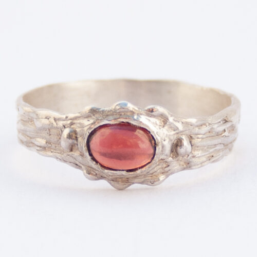 Sterling Silver Red Garnet Ring