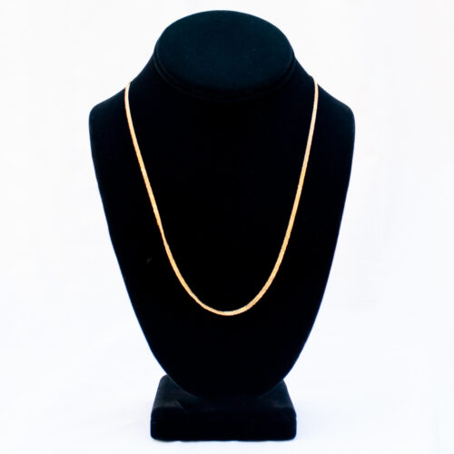 18K Gold Thick Gourmette Link Chain 20""