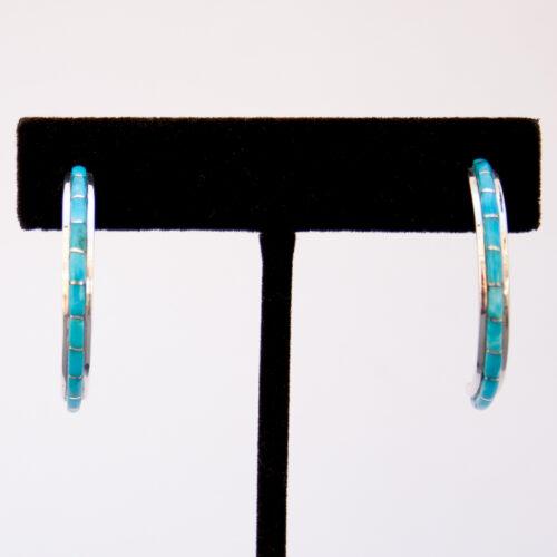 Susanna Kallestewa Turquoise Hoop Earrings