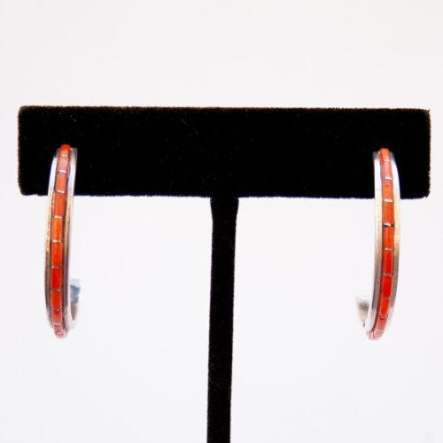 Susanna Kallestewa Red Coral Hoop Earrings