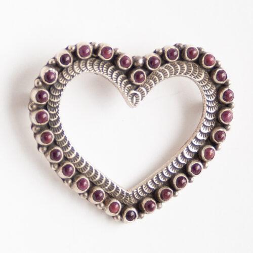 Lee Charley Spondylus Heart Pin Brooch Pendant