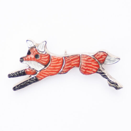 Ghahate Small Spondylus Fox Pin Brooch Pendant