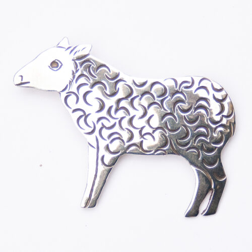 Lee Charley Silver Sheep Pin Brooch
