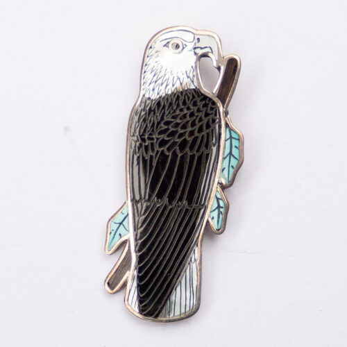 Harlan Monica Coonsis Bald Eagle Pin Brooch Pendant