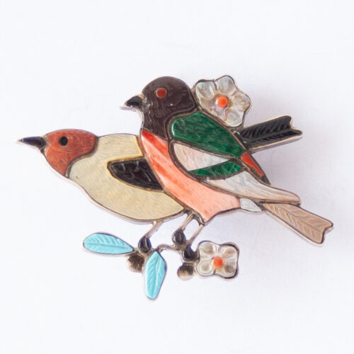 Tamara Pinto Bird Duo Pin Brooch Pendant