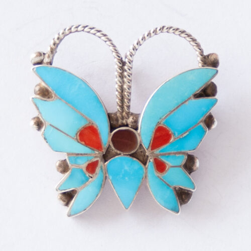 Rosita Wallace Turquoise Butterfly Pin Brooch Pendant