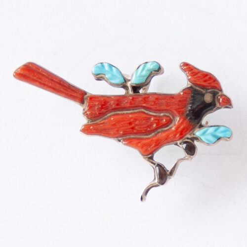 Andrea Shirley Lonjose Northern Cardinal Pin Brooch Pendant
