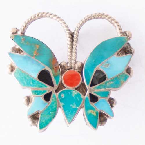 Rosita Wallace Blue Butterfly Pin Brooch Pendant