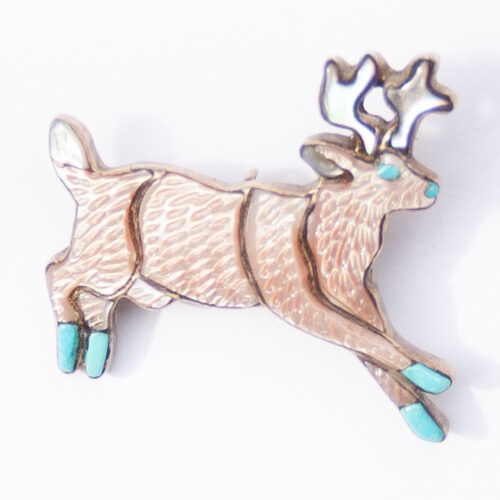 Andrea Shirley Lonjose Reindeer Pin Brooch Pendant