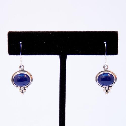 Small Native American Lapis Lazuli Drop Earrings