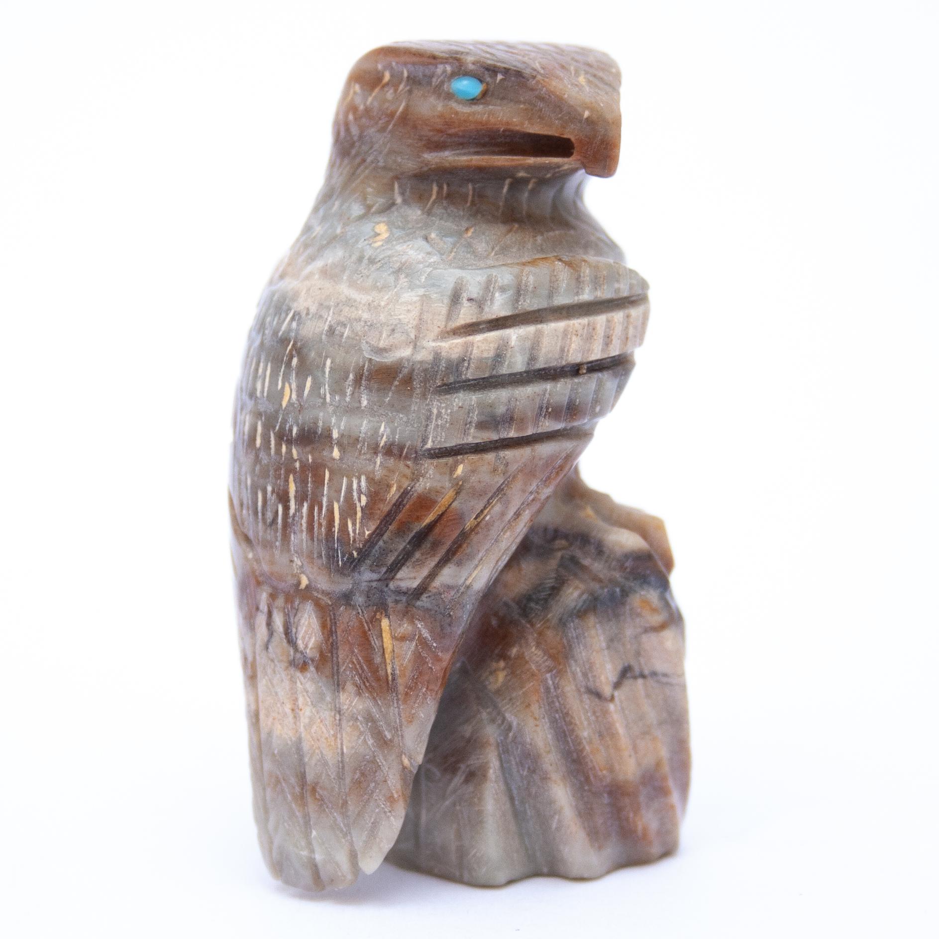 Arvella Cheama Zuni Eagle Carving