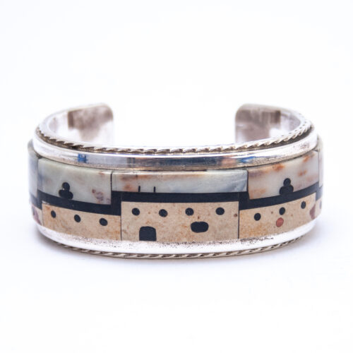 Gilbert Mildred Calavasa Hopi Mesa Inlay Bracelet
