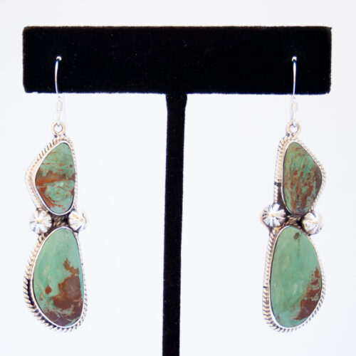 Navajo Royston Turquoise Drop Earrings