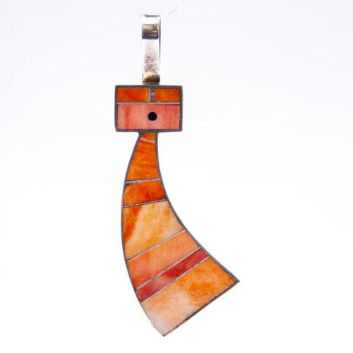 Harold Smith Orange Kachina Pendant