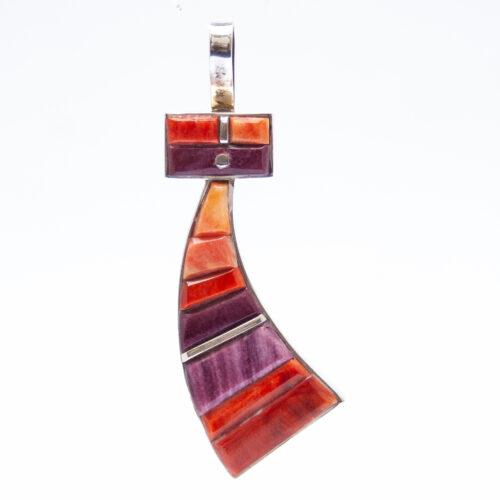 Harold Smith Purple Orange Kachina Necklace