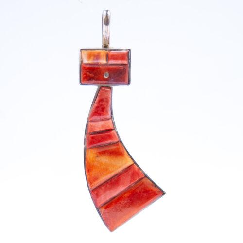 Harold Smith Orange Kachina Necklace