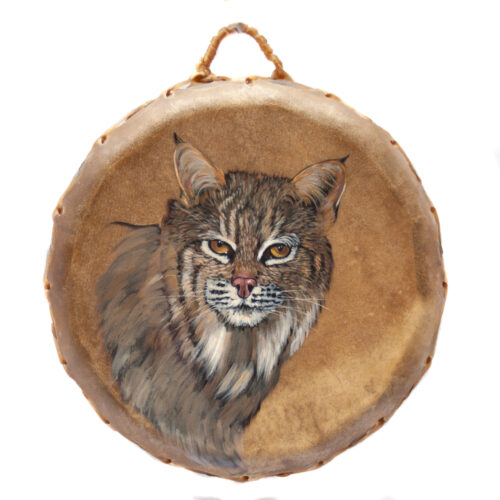 Native American Ceremonial Bobcat Drum