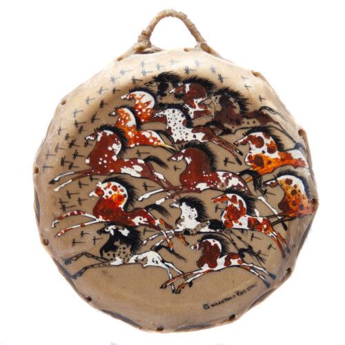 Guillermo Rosette Horses Dragonflies Drum
