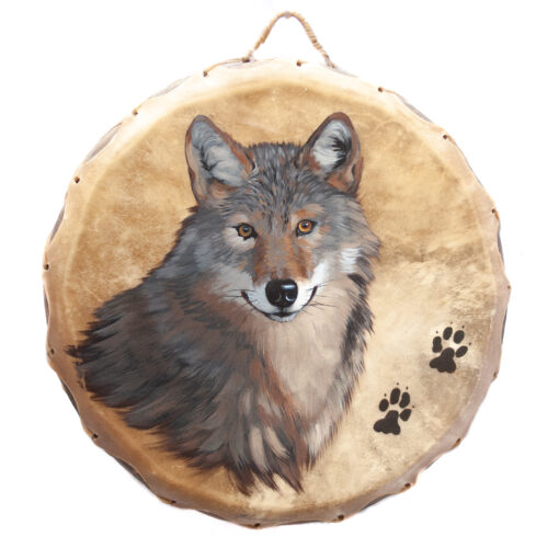 Native American Ceremonial Wolf Drum