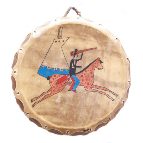 Native American Indian Sioux Warrior Drum