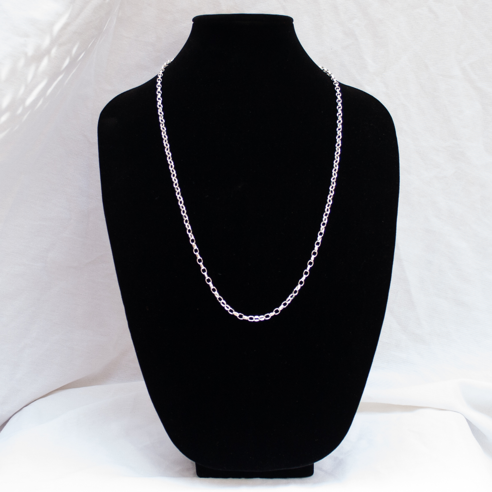 """Sterling Silver Long Cable Chain 30"""""""