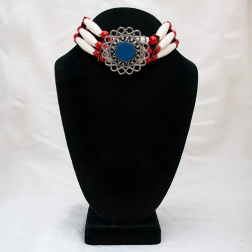 Traditional Cherokee Regalia Bone Choker