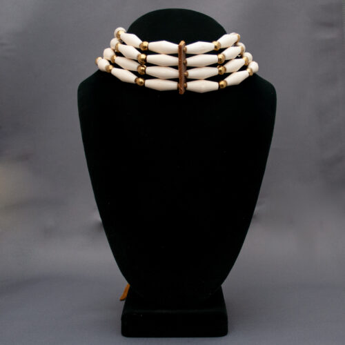 Native American Cherokee Four Strand Bone Choker