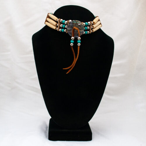 Native American Sioux Abalone Bone Choker