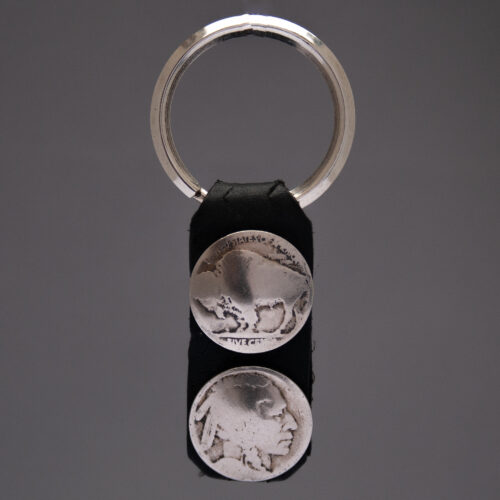 Dylan Hopper Black Leather Coin Keyring