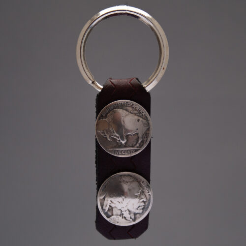 Dylan Hopper Brown Leather Coin Keyring
