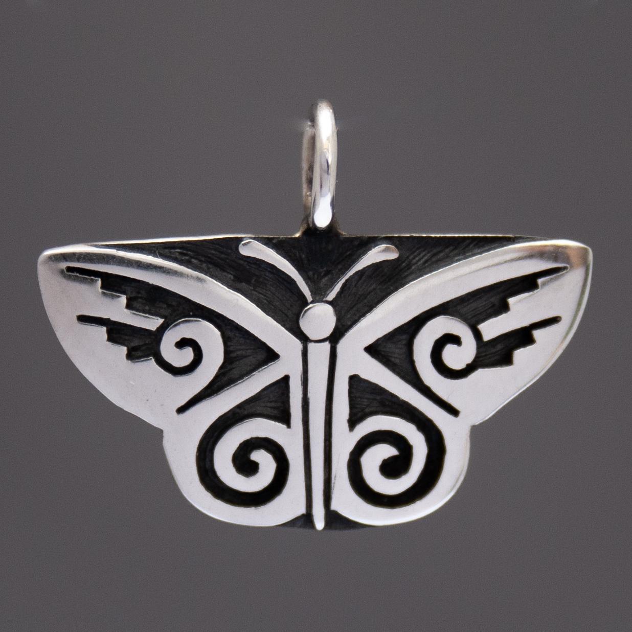 Ray Dorothy Poleyma Kyasyousie Silver Butterfly Pendant