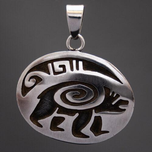 Joe Josytewa Hopi Silver Bear Pendant