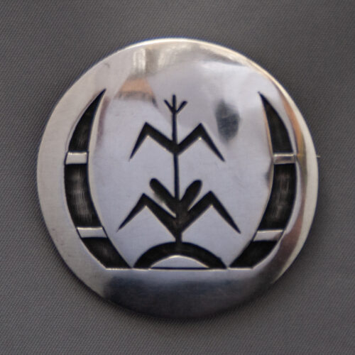 Hopi Corn Stalk Sterling Silver Pin Brooch