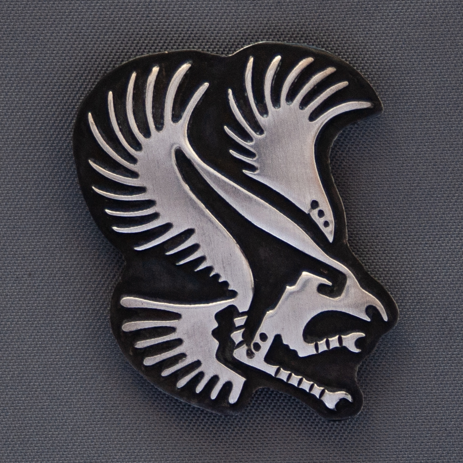 Stanley Gene Sterling Silver Hopi Eagle Pin Brooch