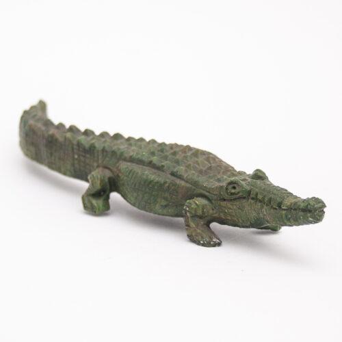 Verdite Crocodile Spirit Animal Carving