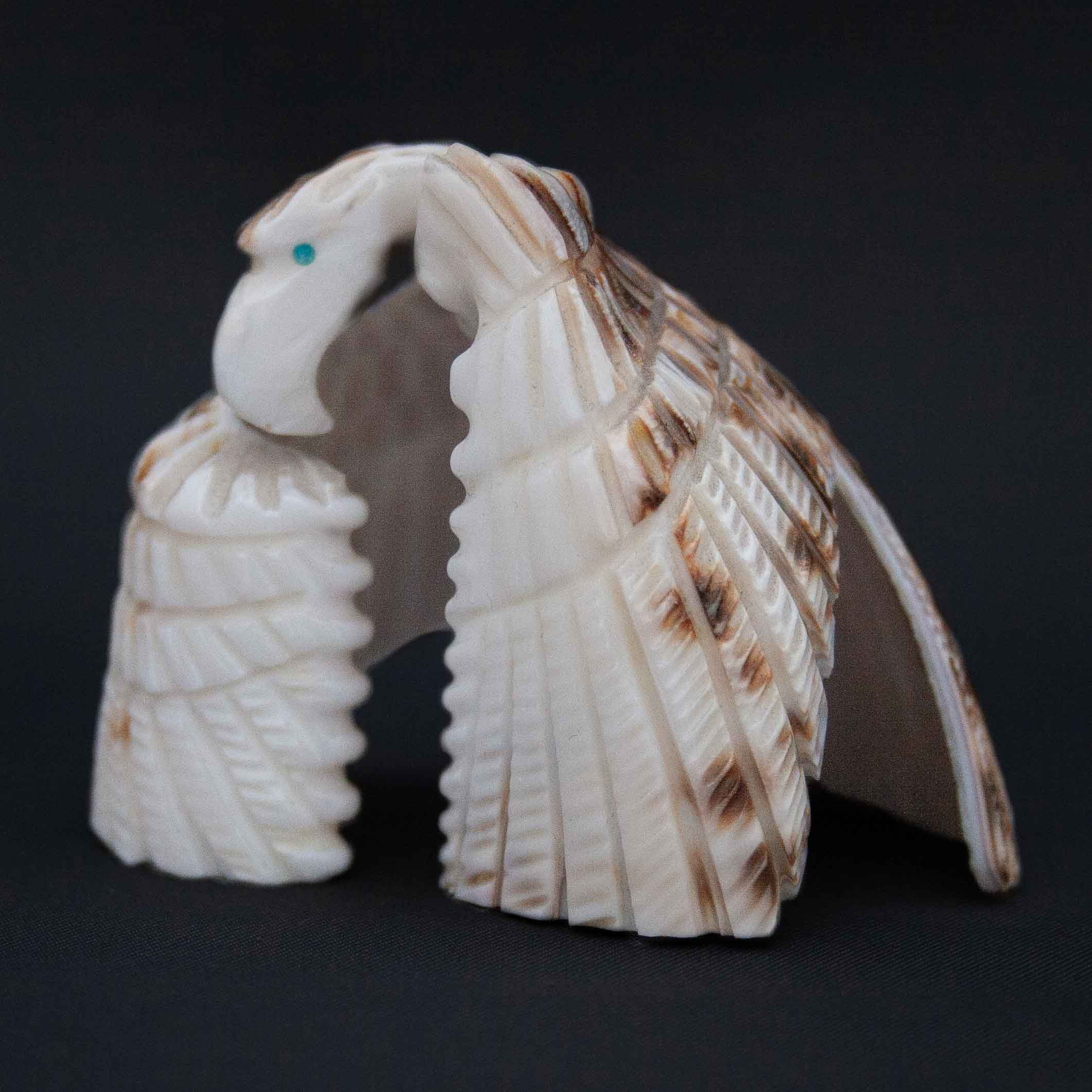 Bryston Bowannie Cowrie Shell Eagle Carving