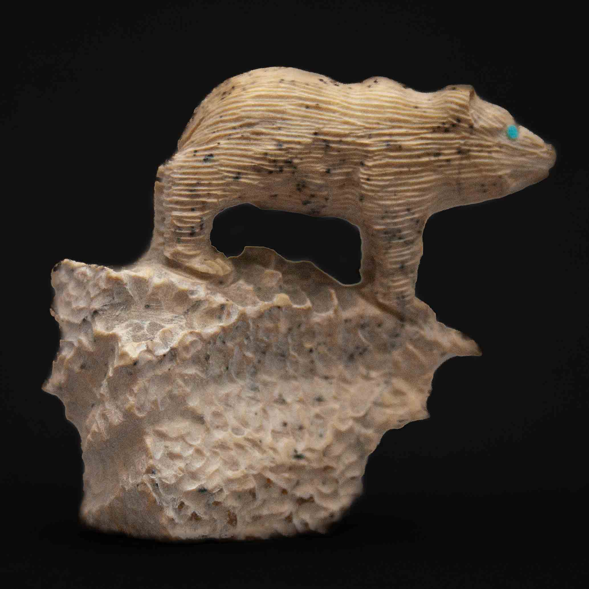 Colin Weeka Zuni Jasper Gopher Carving