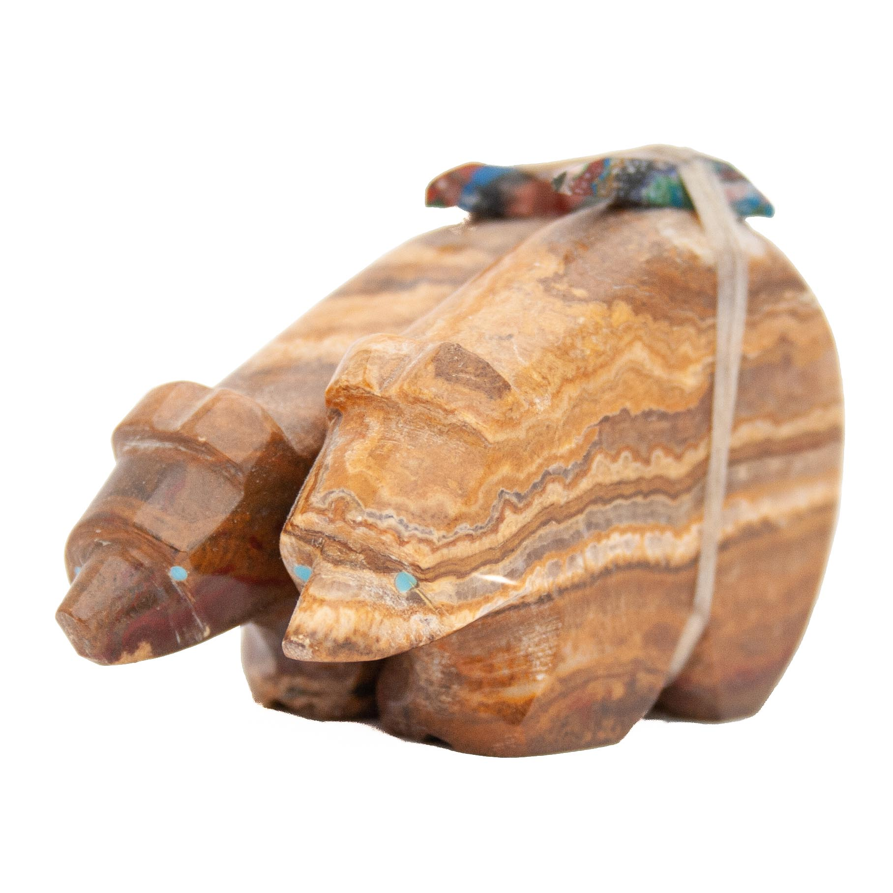 Emery Eriacho Twin Dolomite Bear Carving