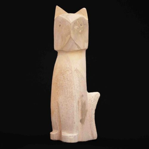 Kenny Chavez Alabaster Zuni Cat Carving