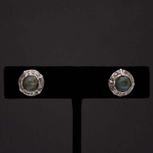Labradorite Spectrolite Silver Stud Earrings