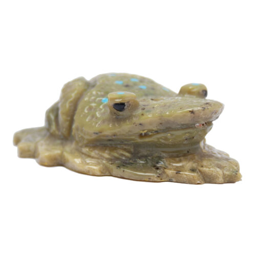Marlin Pinto Green Zuni Frog Carving