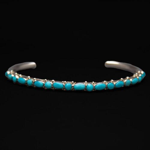 Native American Zuni Thin Turquoise Bracelet