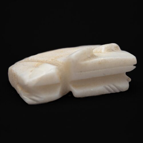 White Marble Zuni Frog Carving